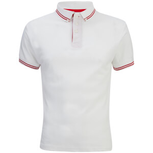 Soul Star Men's Ralling Polo Shirt - White