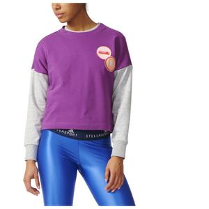 adidas Women's Stella Sport Spacer Training Crew Sweatshirt - Purple
