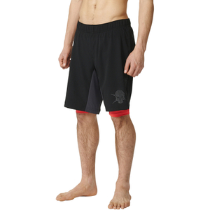 adidas Men's A2G Two-in-One Training Shorts - Black