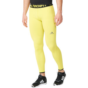 adidas Men's Techfit Performance Climachill Tights - Yellow