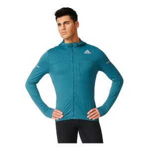 adidas Men's Stretch Running Jacket - Green