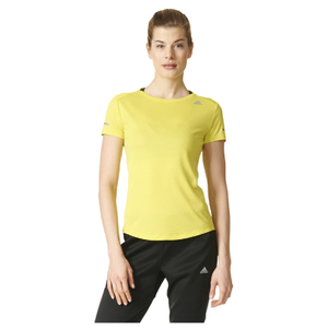 adidas Women's Sequencials Climalite Running T-Shirt - Yellow