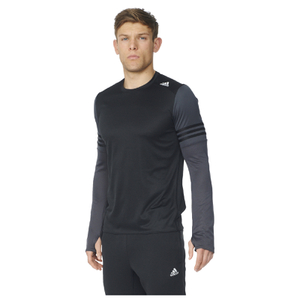 adidas Men's Response Long Sleeve Running T-Shirt - Black