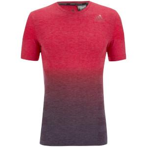 adidas Men's Primeknit Wool Dip-Dyed Running T-Shirt - Red/Blue