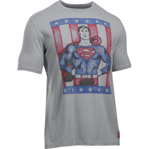 Under Armour Men's Retro Superman Short Sleeve T-Shirt - Steel/Red