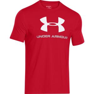 Under Armour Men's Sportstyle Logo T-Shirt - Red/Steel/White