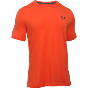 Under Armour Men's Sportstyle Left Chest Logo T-Shirt - Dark Orange/Nova Teal