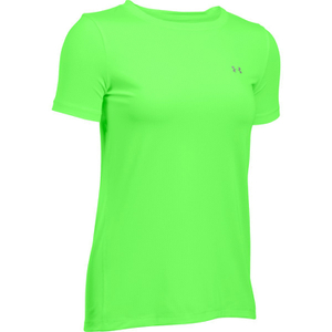 Under Armour Women's HeatGear Armour Short Sleeve T-Shirt - Lime Light