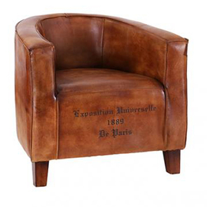 Leather Bucket Chair