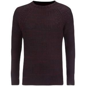 Brave Soul Men's Maximus Chunky Fisherman Jumper - Wine
