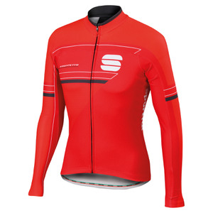 Sportful Gruppetto Thermal Long Sleeve Jersey - Red