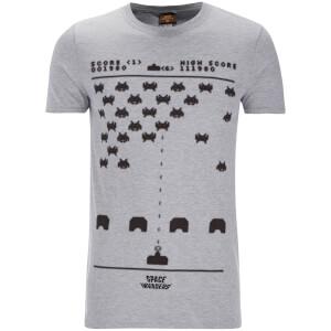 Atari Mens Space Invaders Gaming T-Shirt - Grijs