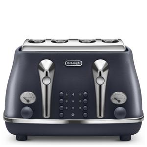 DeLonghi Elements Four Slice Toaster - Blue