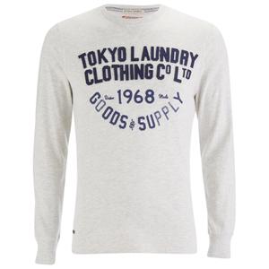 Tokyo Laundry Men's Point Hendrick Long Sleeve Top - Oatgrey Marl