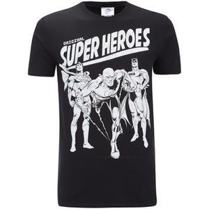 DC Comics Men's Original Superheroes T-Shirt - Black