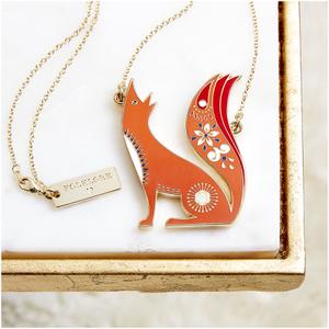 Folklore 'Mr Fox' Enamel Necklace