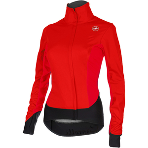 Castelli Women's Alpha Jacket - Red/Black