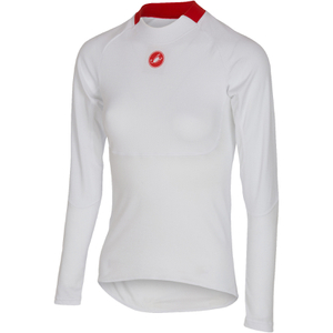 Castelli Women's Prosecco Long Sleeve Base Layer - White