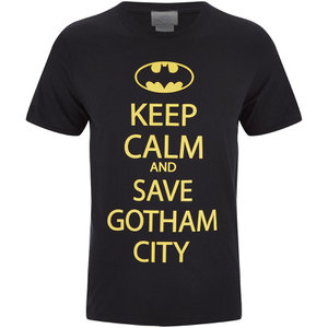 DC Comics Batman Mens Keep Calm T-Shirt - Zwart