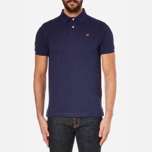 Hackett London Men's Tailored Logo Polo Shirt - Navy/Red