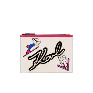 Karl Lagerfeld Women's Ski Holiday Pouch - White