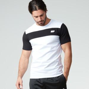 Myprotein muška prugasta majica - Bijela