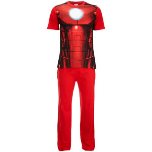 Marvel Men's Iron Man Pyjama Set - Red