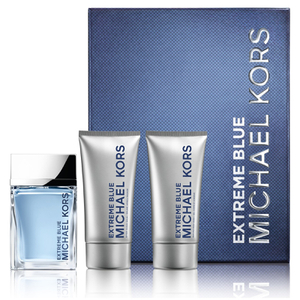 Michael Kors Extreme Blue Eau de Toilette 120ml, Body Wash and Aftershave Balm Set