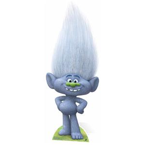 Trolls Guy Diamond Glittery Grey Cutout