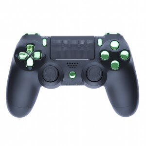 Playstation 4 Custom Controller - Matte Black & Chrome Green