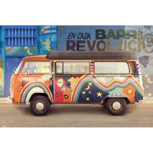 VW Camper Cuba Maxi Poster - 61 x 91.5cm