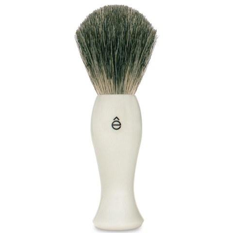 eShave Long Shave Brush Plastic Handle White