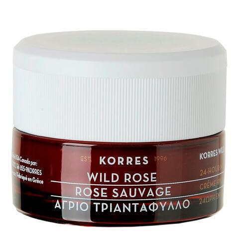 Korres Wild Rose 24-h Feuchtigkeitspflege SPF6 40ml