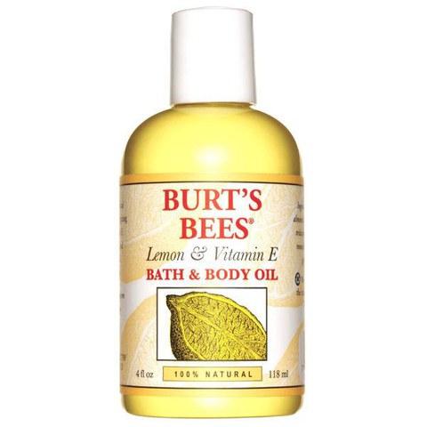 Huile bain et corps Burt's Bees - Citron et vitamin E (4 fl oz / 115ml)