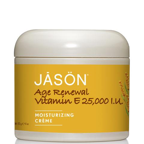Crema hidratante antienvejecimiento de la vitamina E JASON 25000IU (113g)