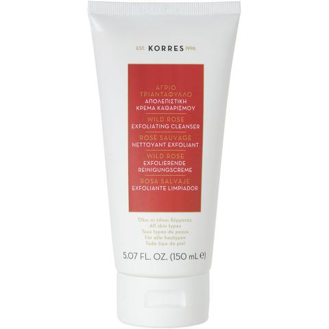 Limpiador facial exfoliante Korres Wild Rose (150ml)