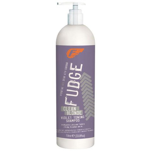 Fudge Clean Blonde Violet Toning Shampoo (1000ml)