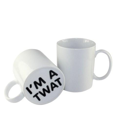 Überraschung Tasse - I'm a Tw#t (Ich bin ein Idiot)