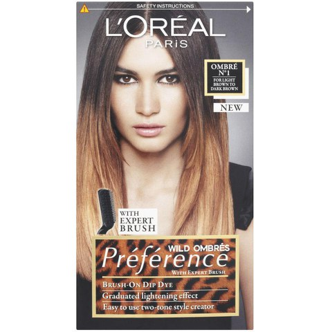 Pics Photos Loreal Preference Wild Ombres No 2 Dip Dye Hair Kit Dark