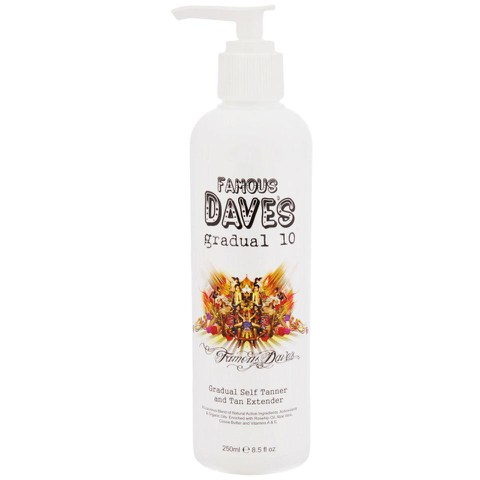 Famous Dave's Gradual 10 Self Tan Lotion/Tan Extender (250ml)