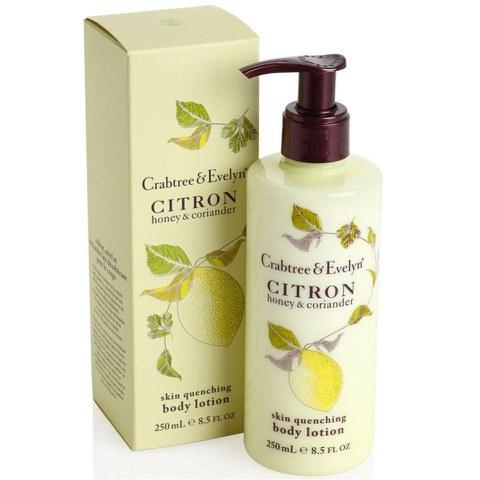 Lait pour le corps au citron, miel et coriandre Crabtree & Evelyn (250g)