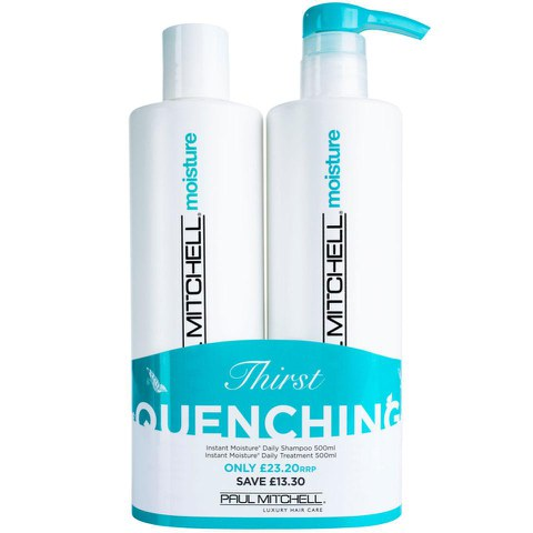 Paul Mitchell Instant Moisture Shampoo and Treatment 500ml Duo (Worth £36.50)