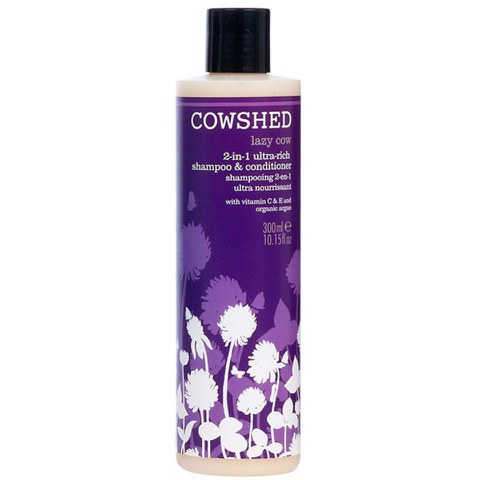 Cowshed Lazy Cow 2 in 1 Ultra Rich Shampoo and Conditioner