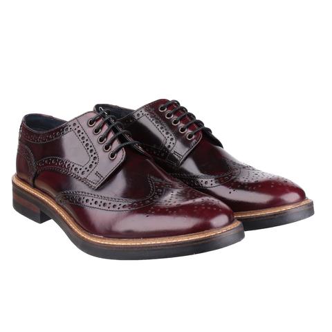 Base London Men's Woburn Brogue Shoes - Red