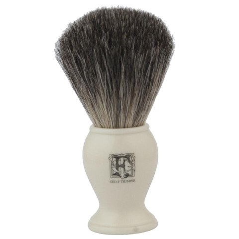 Geo. F. Trumper PB1IP Simulated Ivory Pure Badger Shaving Brush