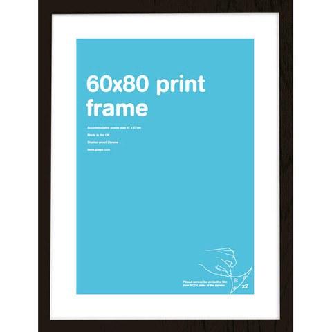 Black Frame 60 x 80 cm Print