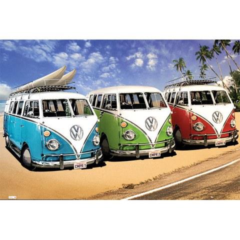 VW Californian Camper Campers Beach - Maxi Poster - 61 x 91.5cm