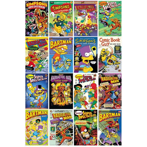 The Simpsons Comic Covers - Maxi Poster - 61 x 91.5cm