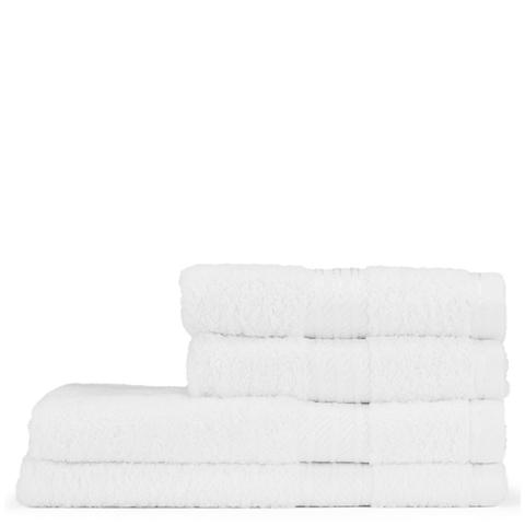 Restmor 100% Egyptian Cotton 4 Piece Supreme Towel Bale Set (500gsm) - White