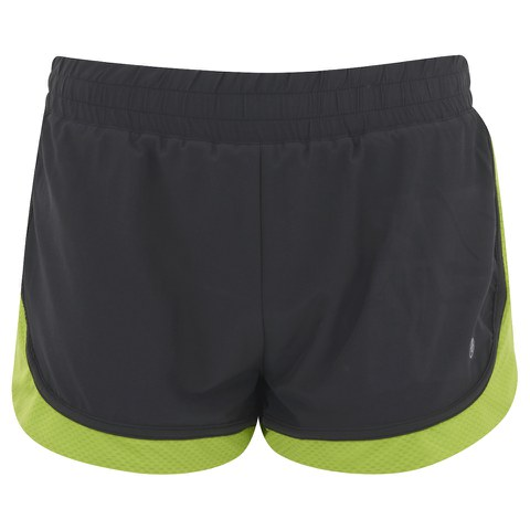 LIJA Damen Pursuit Run Lightly Shorts - schwarz/farngrün